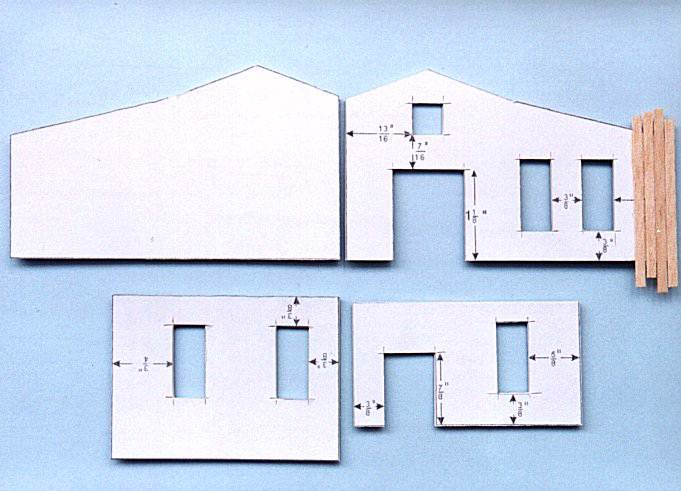 Scratch building model houses